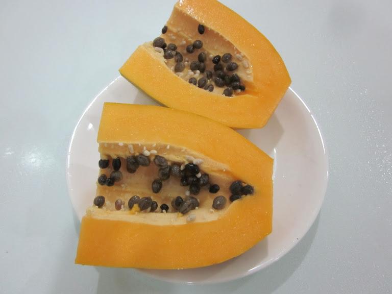 Фрукты на Фукуоке: папайя