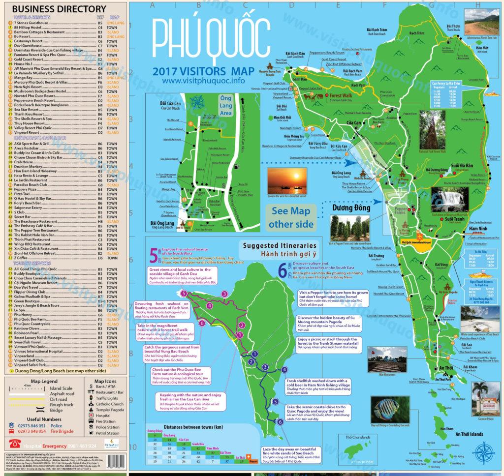Подробная карта Фукуока